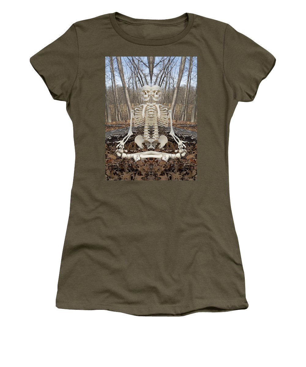 Skeleton Women's T-Shirt featuring the photograph Budding Buddies by Betsy Knapp