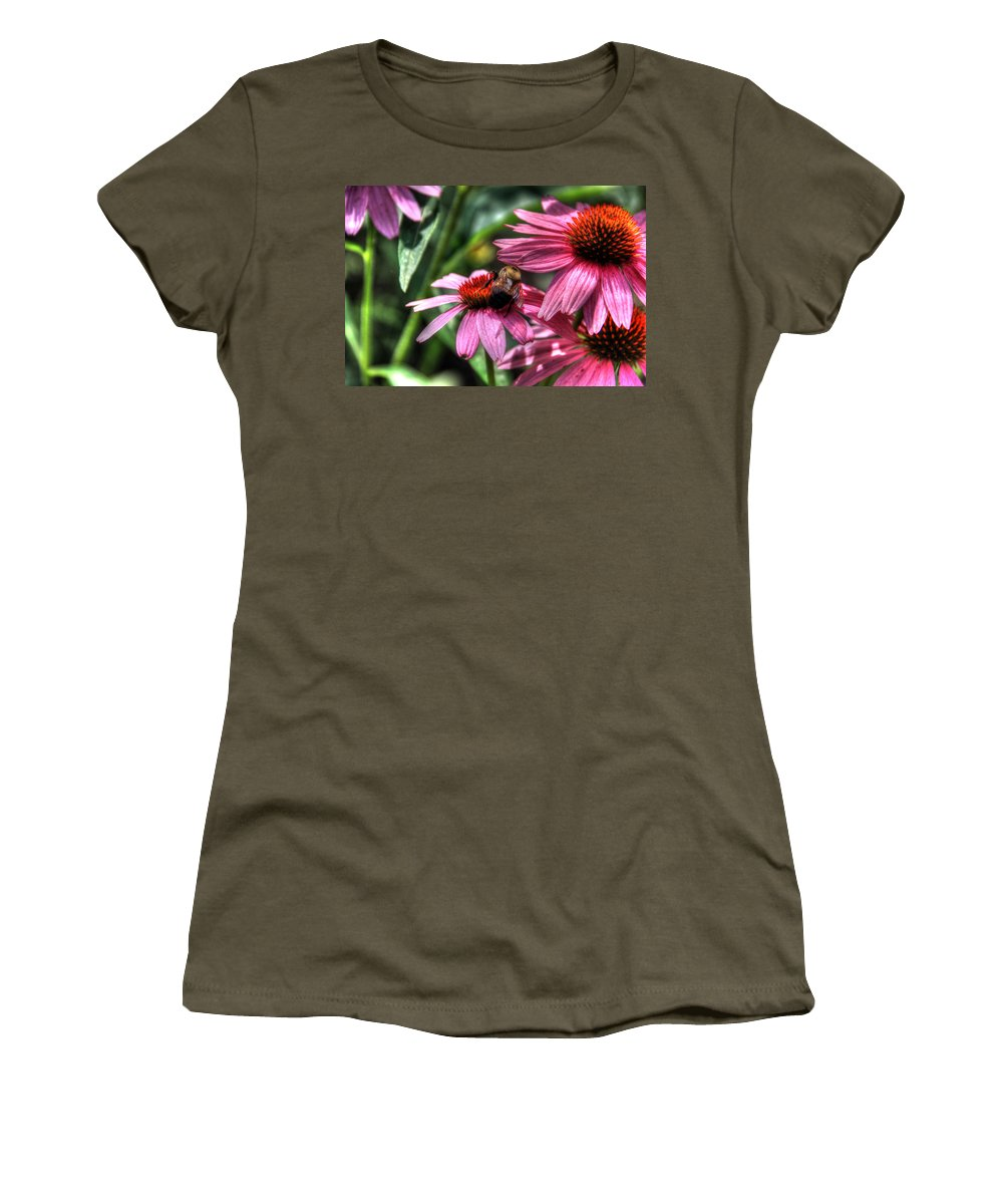 Canon Women's T-Shirt (Athletic Fit) featuring the photograph Bumble Bee by Steven K Sembach
