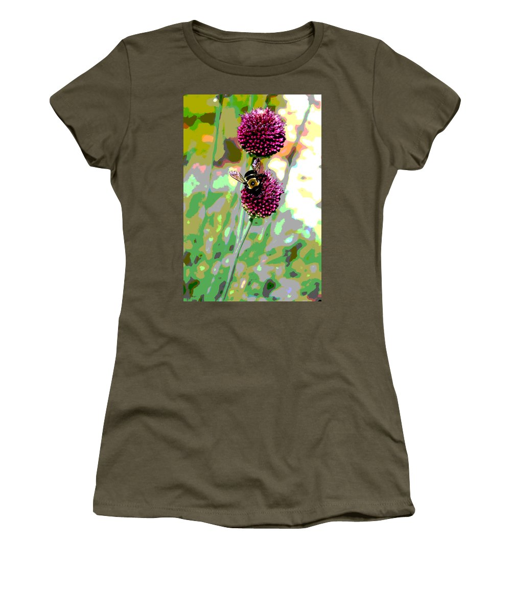 Bee Women's T-Shirt featuring the photograph Bumblebee2 by Carolyn Stagger Cokley