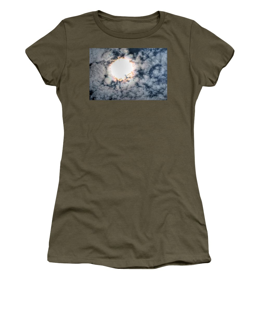 Sky Women's T-Shirt featuring the photograph Burning Atmosphere by Michael Frank Jr