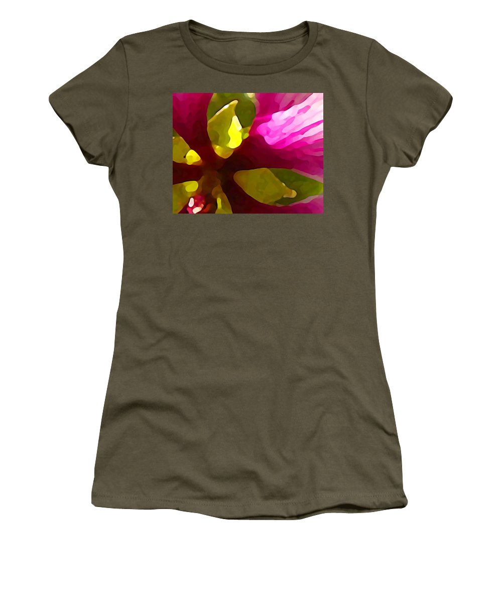 Contemporary Women's T-Shirt featuring the painting Burst Of Spring by Amy Vangsgard