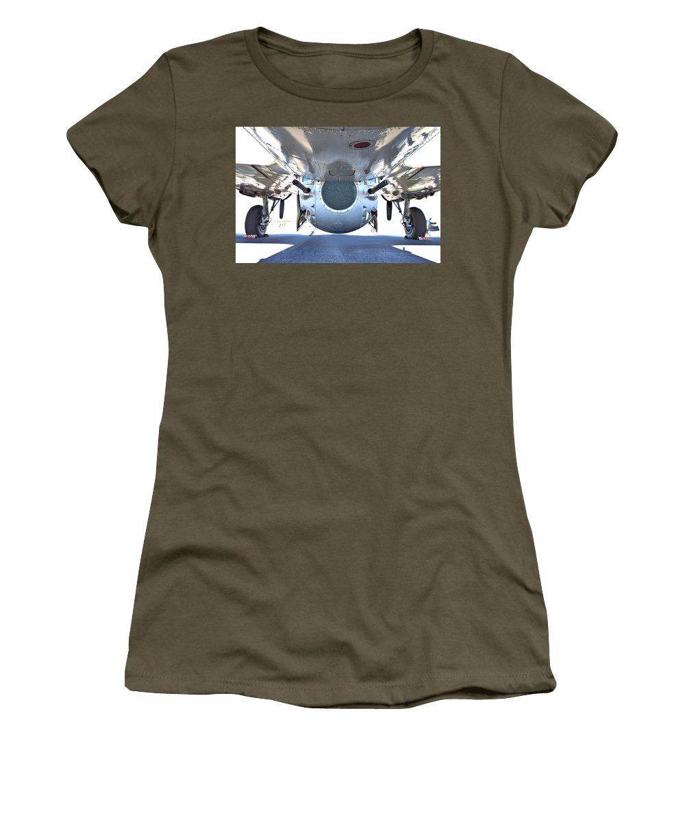 9299 Women's T-Shirt (Athletic Fit) featuring the photograph Business End Of A Ball Turret by Gordon Elwell