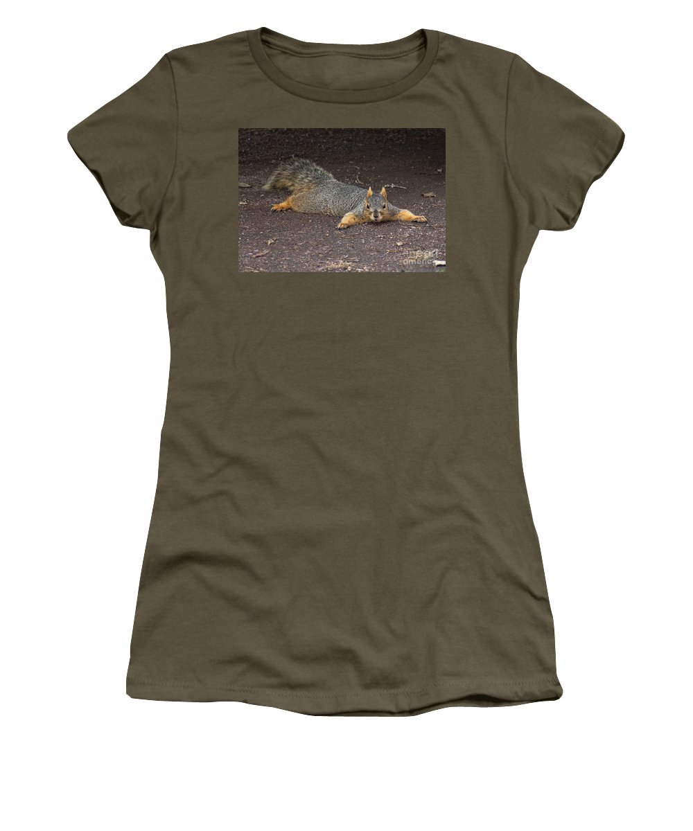 Squirrel Women's T-Shirt featuring the photograph Busted by Lori Tordsen