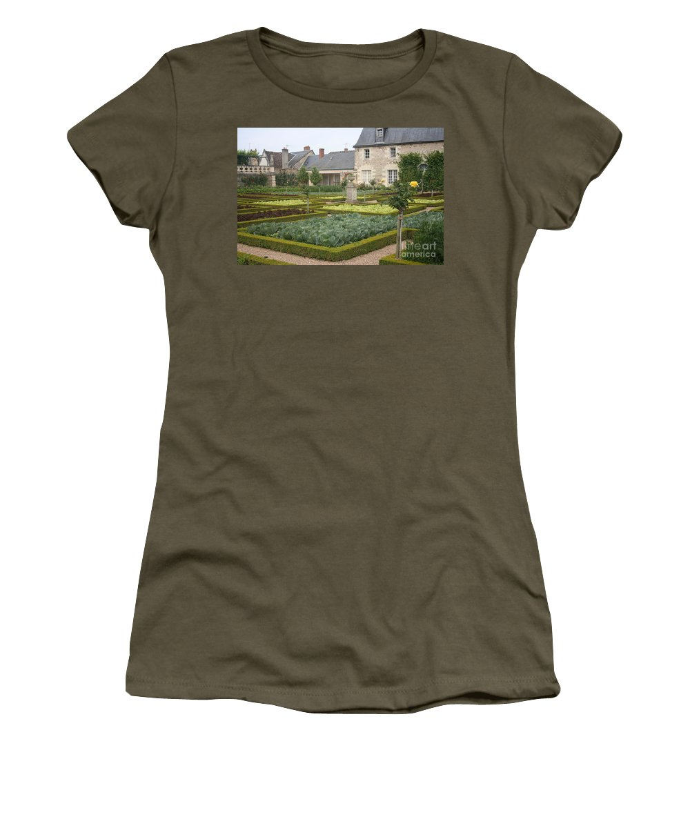 Cabbage Women's T-Shirt featuring the photograph Cabbage Garden Chateau Villandry by Christiane Schulze Art And Photography