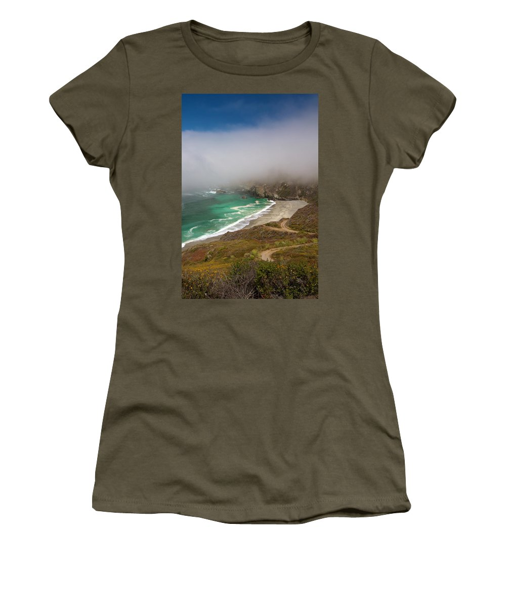 Monterey Women's T-Shirt featuring the photograph Cabrillo Sea Fog by David Beebe