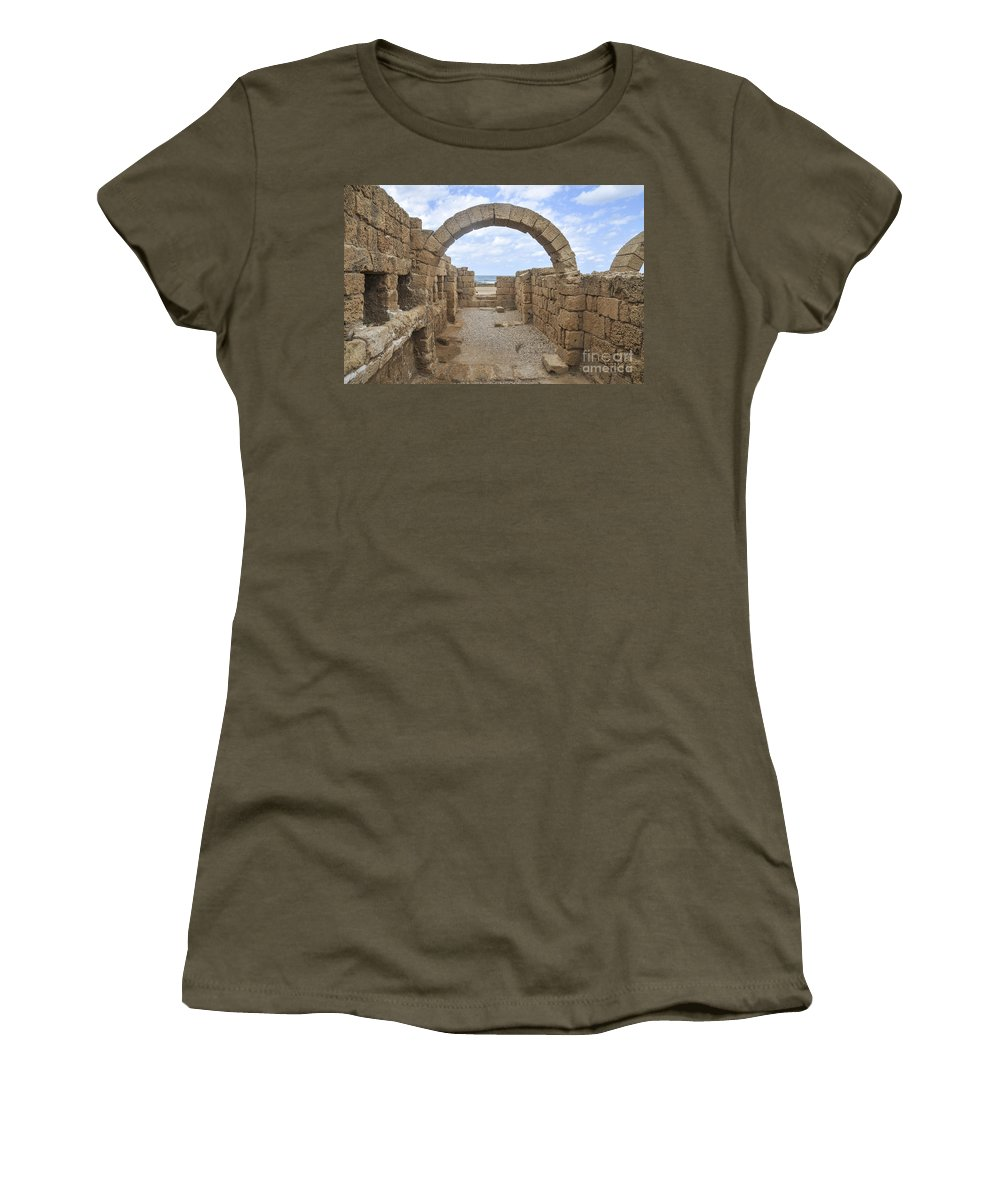 Hippodrome Women's T-Shirt featuring the photograph Caesarea The Hippodrome by Shay Levy