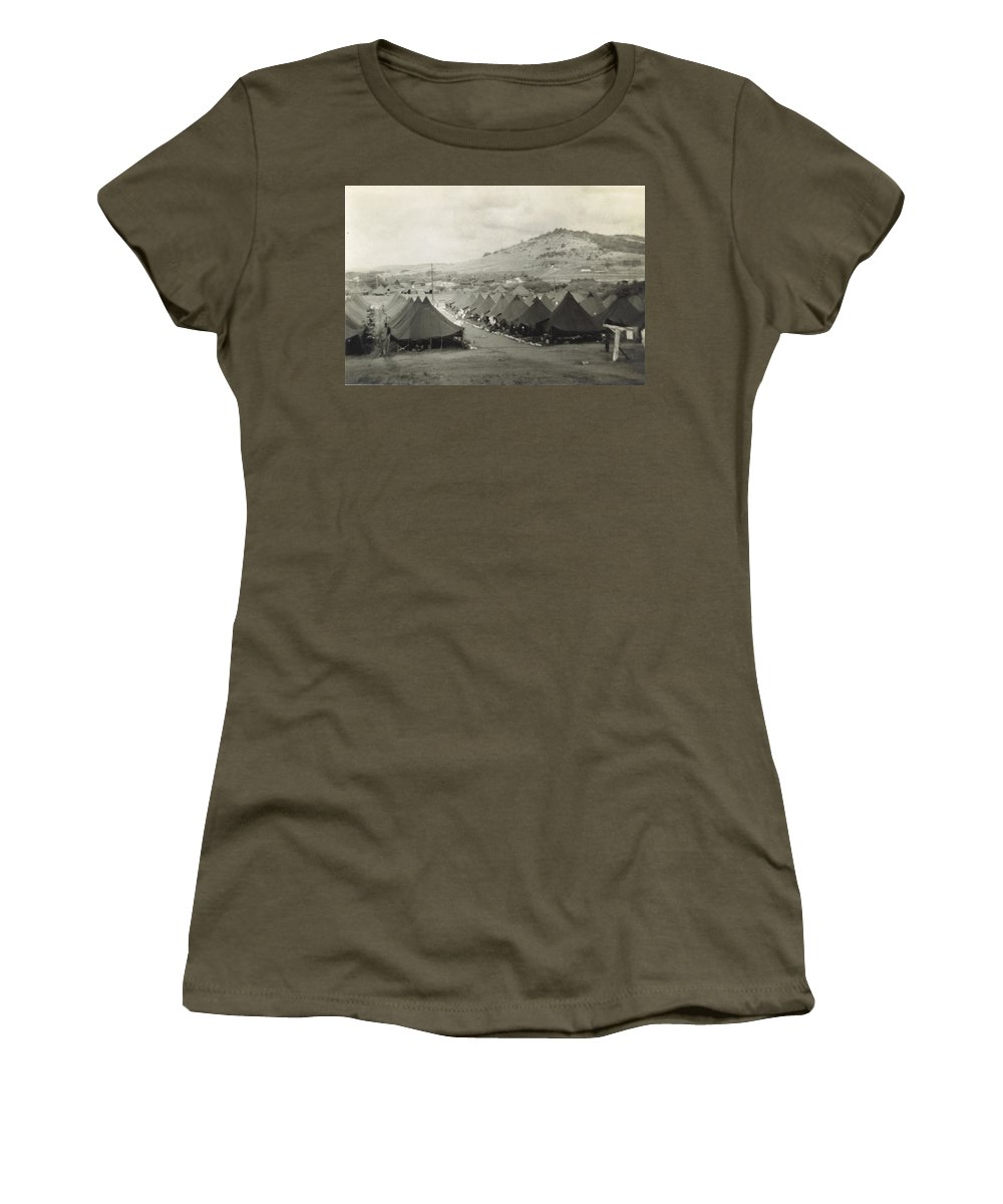Where Marines Were Bivouacked At Camp Garcia Women's T-Shirt featuring the photograph Camp Garcia In Vieques by Robert Floyd