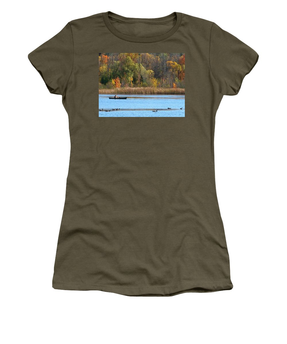 Canoe Women's T-Shirt featuring the photograph Canoer by Aimee L Maher ALM GALLERY
