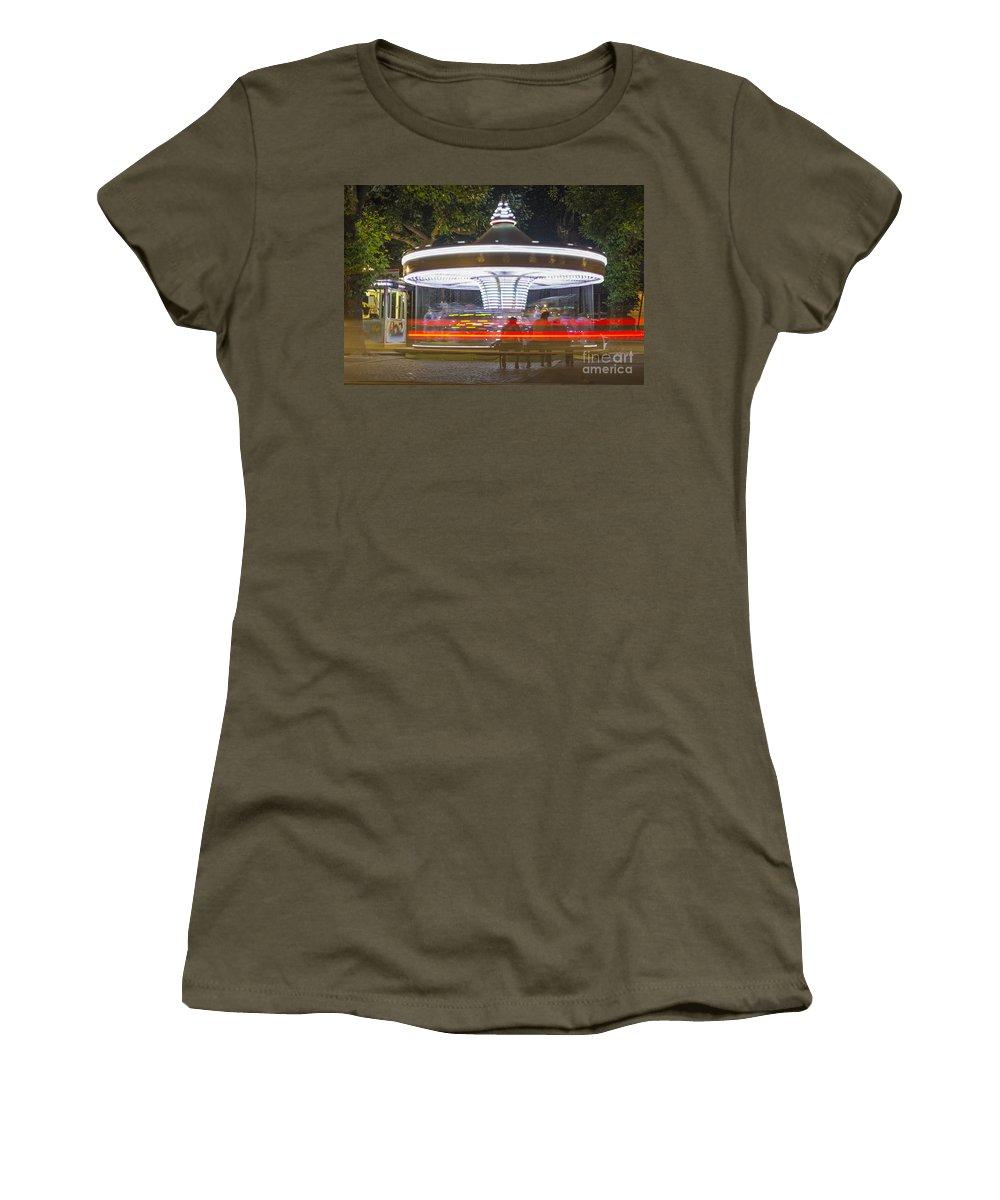 Carousel Women's T-Shirt featuring the photograph Carousel by Mats Silvan