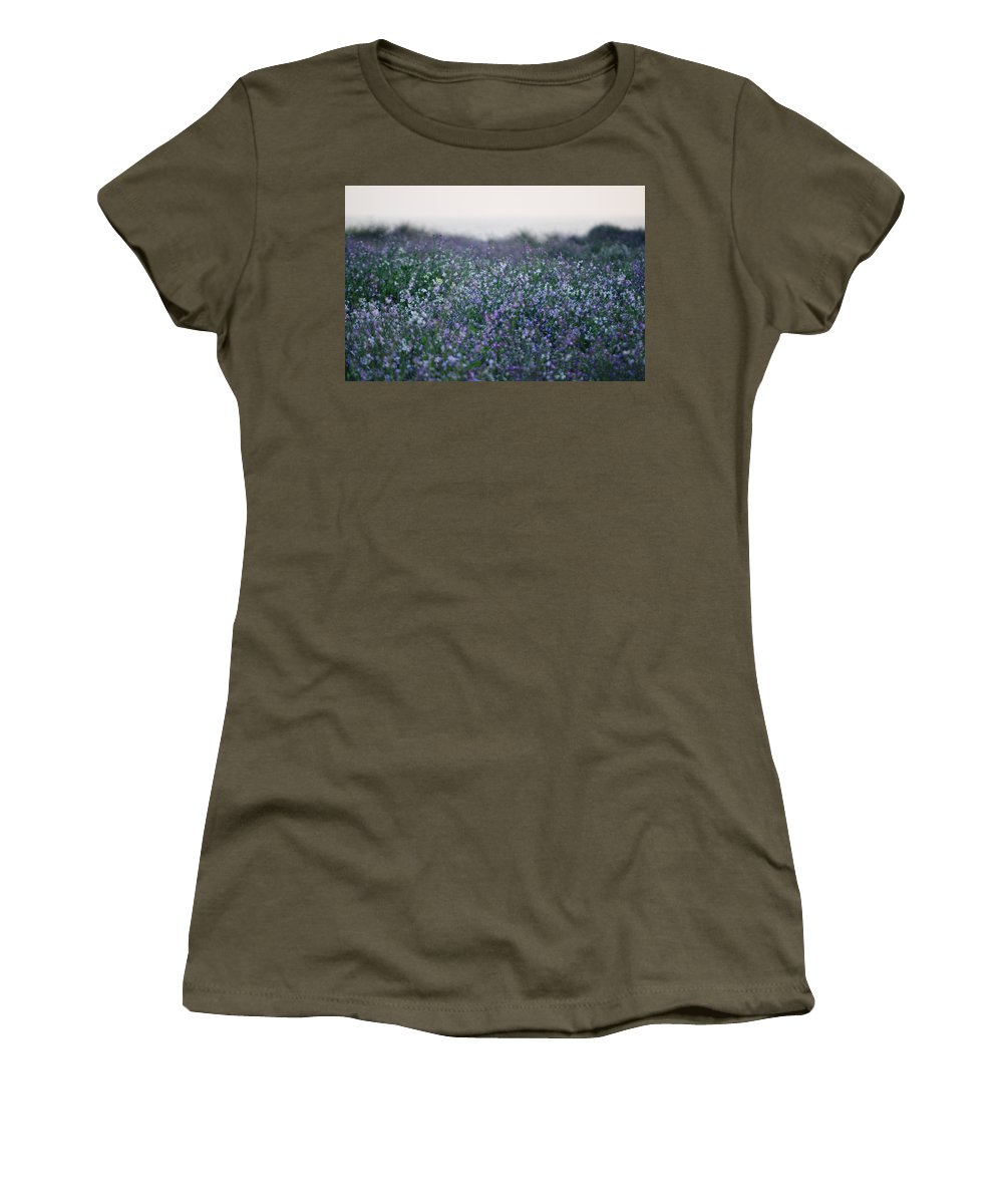 Wildflowers Women's T-Shirt (Athletic Fit) featuring the photograph Carpinteria California Wildflowers by Kyle Hanson