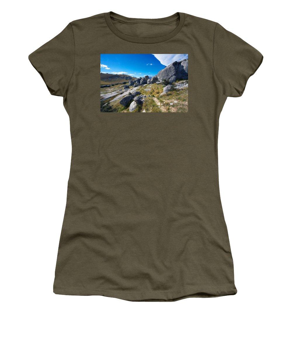 New Women's T-Shirt featuring the photograph Castle Hill #4 by Stuart Litoff