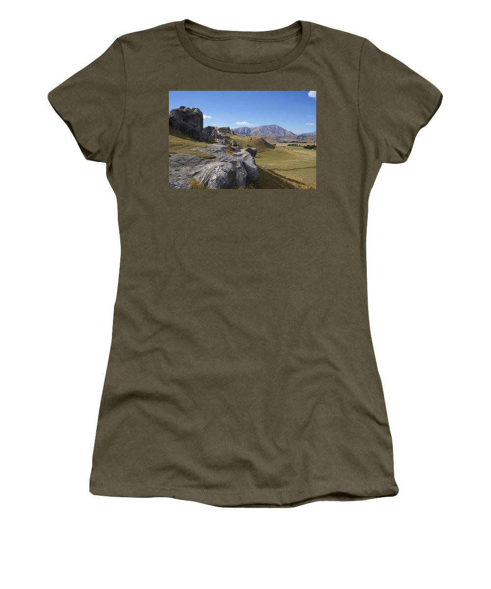 New Women's T-Shirt featuring the photograph Castle Hill #6 by Stuart Litoff