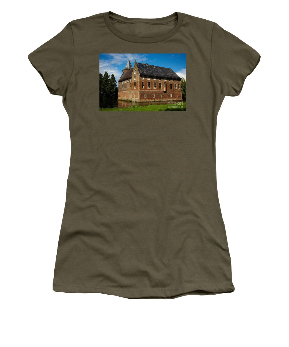 Castle Women's T-Shirt featuring the photograph Castle In A Dutch Country by Nick Biemans