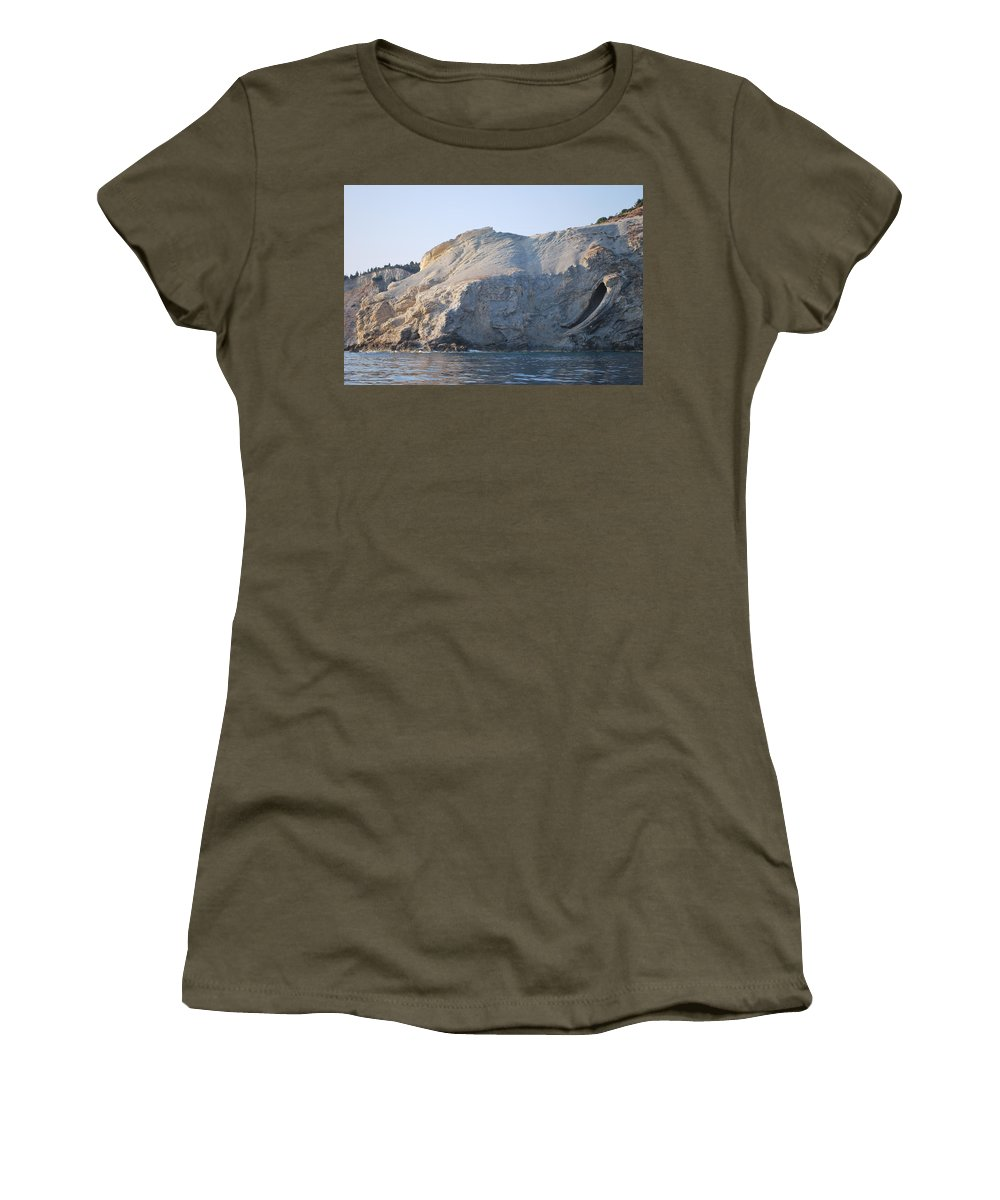 Cave Women's T-Shirt featuring the photograph Cave by George Katechis