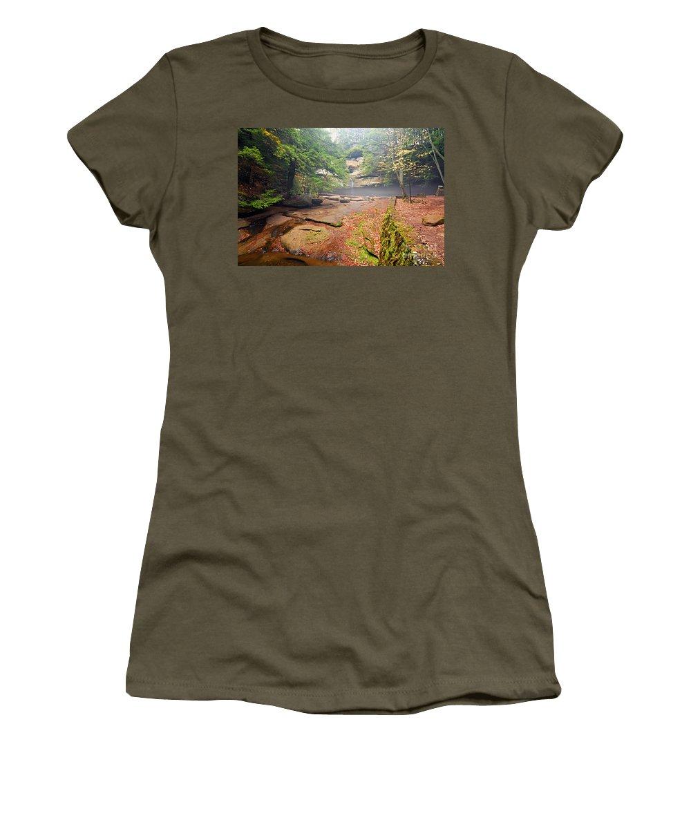 Photography Women's T-Shirt featuring the photograph Cedar Falls by Larry Ricker