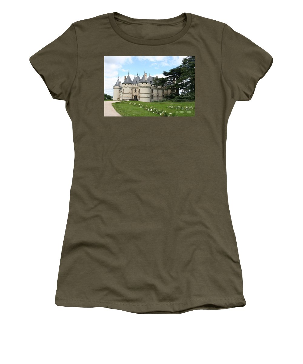 Palace Women's T-Shirt featuring the photograph Chateau Chaumont From The Garden by Christiane Schulze Art And Photography