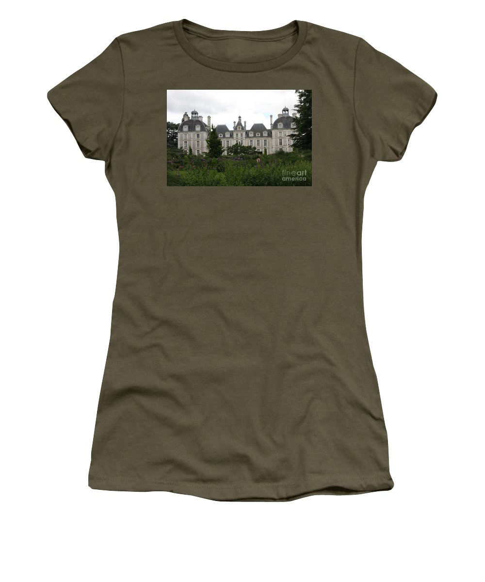 Palace Women's T-Shirt featuring the photograph Chateau Cheverney by Christiane Schulze Art And Photography