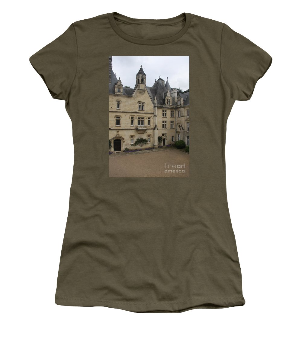 Palace Women's T-Shirt featuring the photograph Chateau D'usse by Christiane Schulze Art And Photography