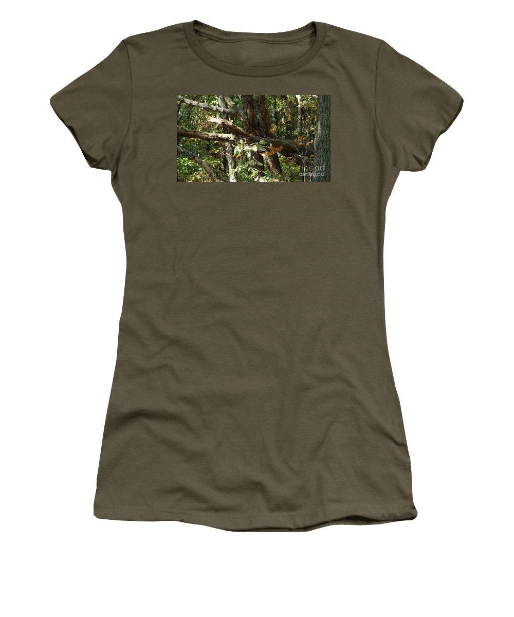 Autumn Leaves Women's T-Shirt featuring the photograph Chattahoochee River Trails by Rafael Salazar