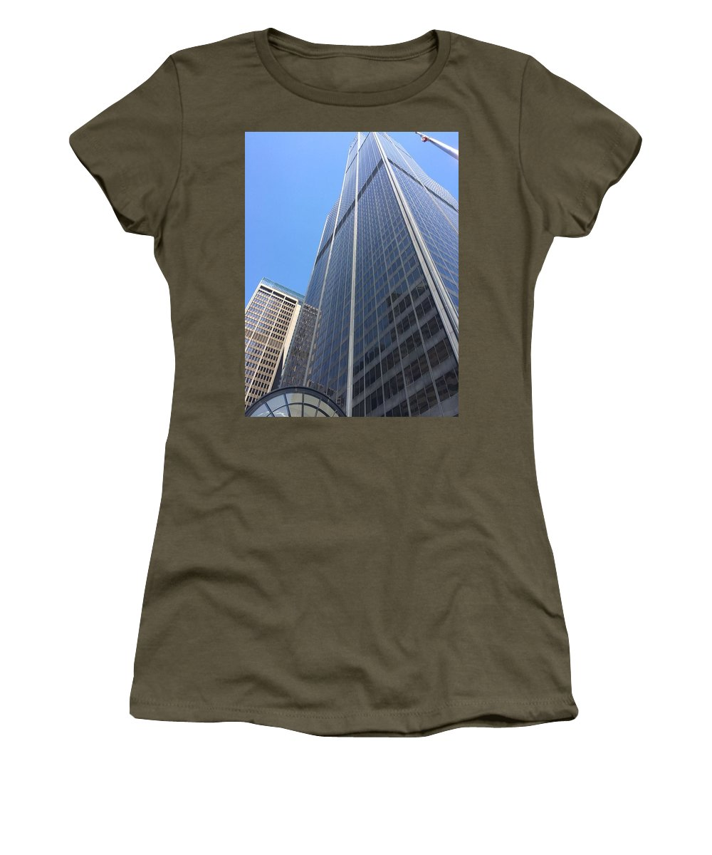 Chicago Women's T-Shirt featuring the photograph Chicago Willis Tower by Jay Watuobi