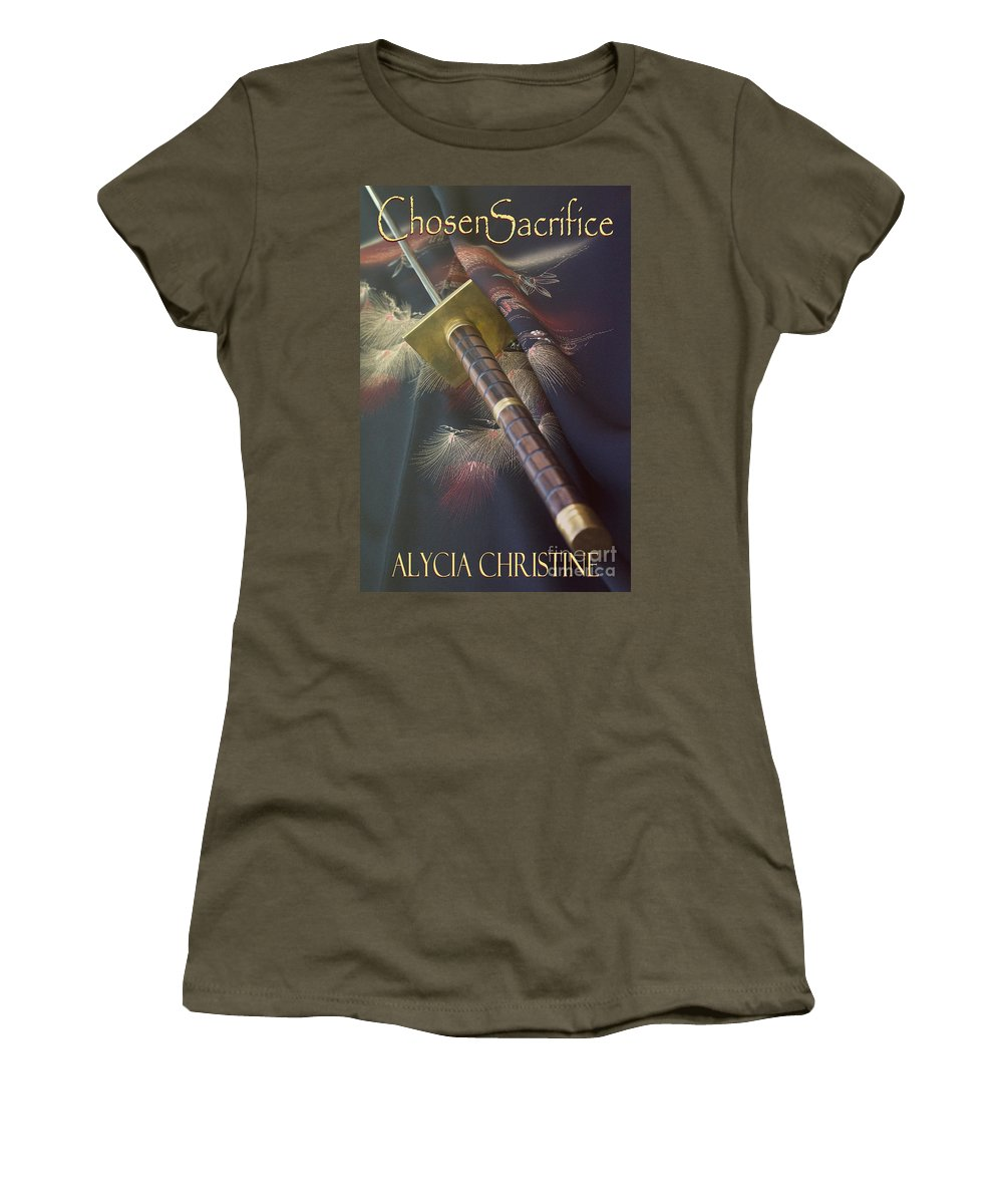 Book Women's T-Shirt featuring the photograph Chosen Sacrifice Cover by Alycia Christine