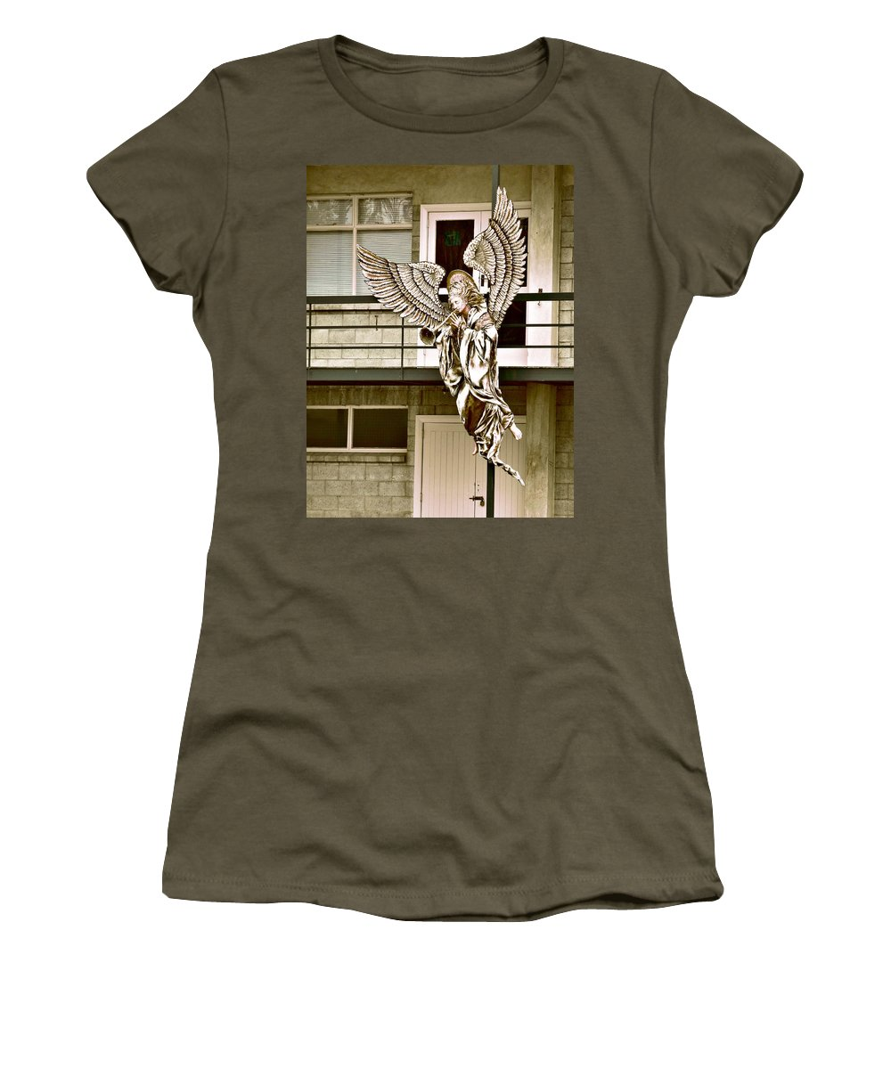Earthquake Women's T-Shirt featuring the photograph Christmas Comes But Once A Year by Steve Taylor