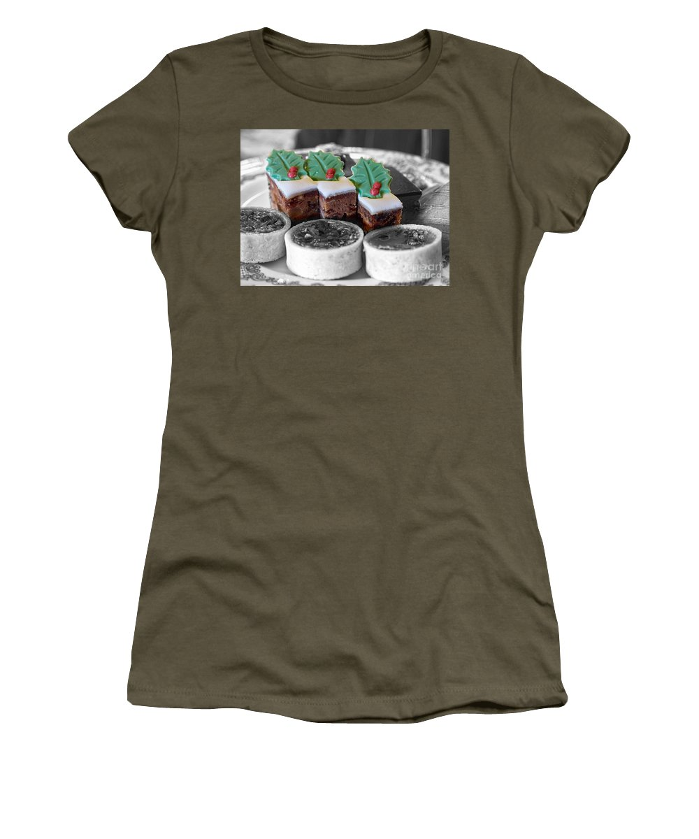 Christmas Women's T-Shirt featuring the photograph Christmas Pastries by Louise Heusinkveld