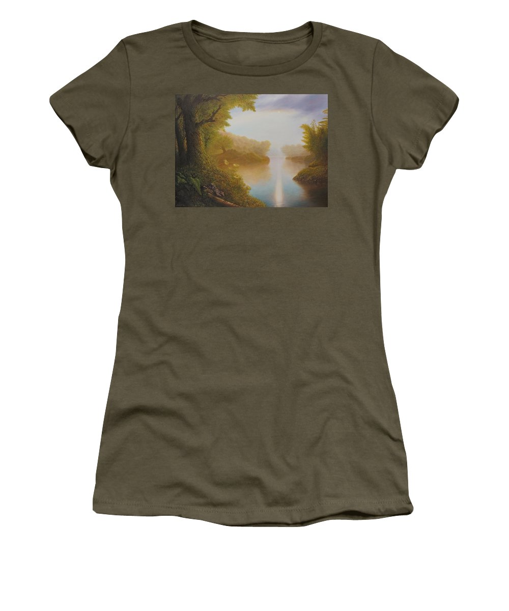 Sun Women's T-Shirt featuring the painting Church Study by Karma Moffett