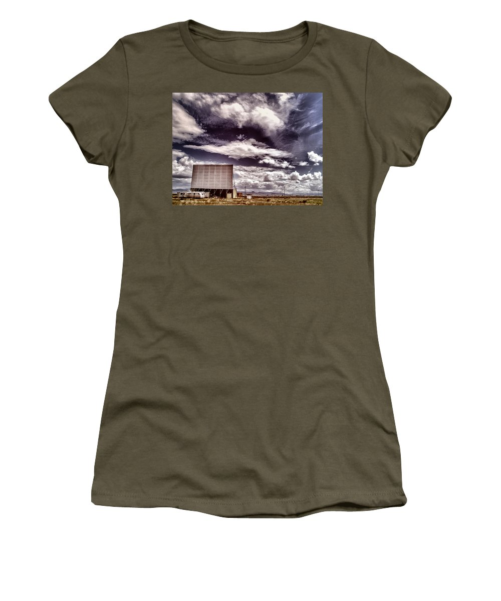 Cinema Women's T-Shirt featuring the photograph Cinema Verite by Dominic Piperata