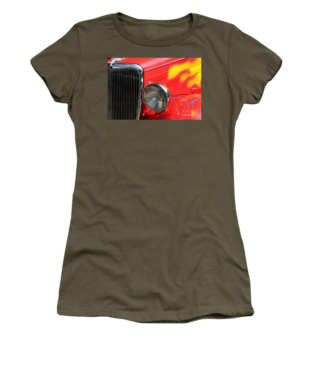 Car Shows Women's T-Shirt featuring the photograph Classic Cars Beauty By Design 8 by Bob Christopher