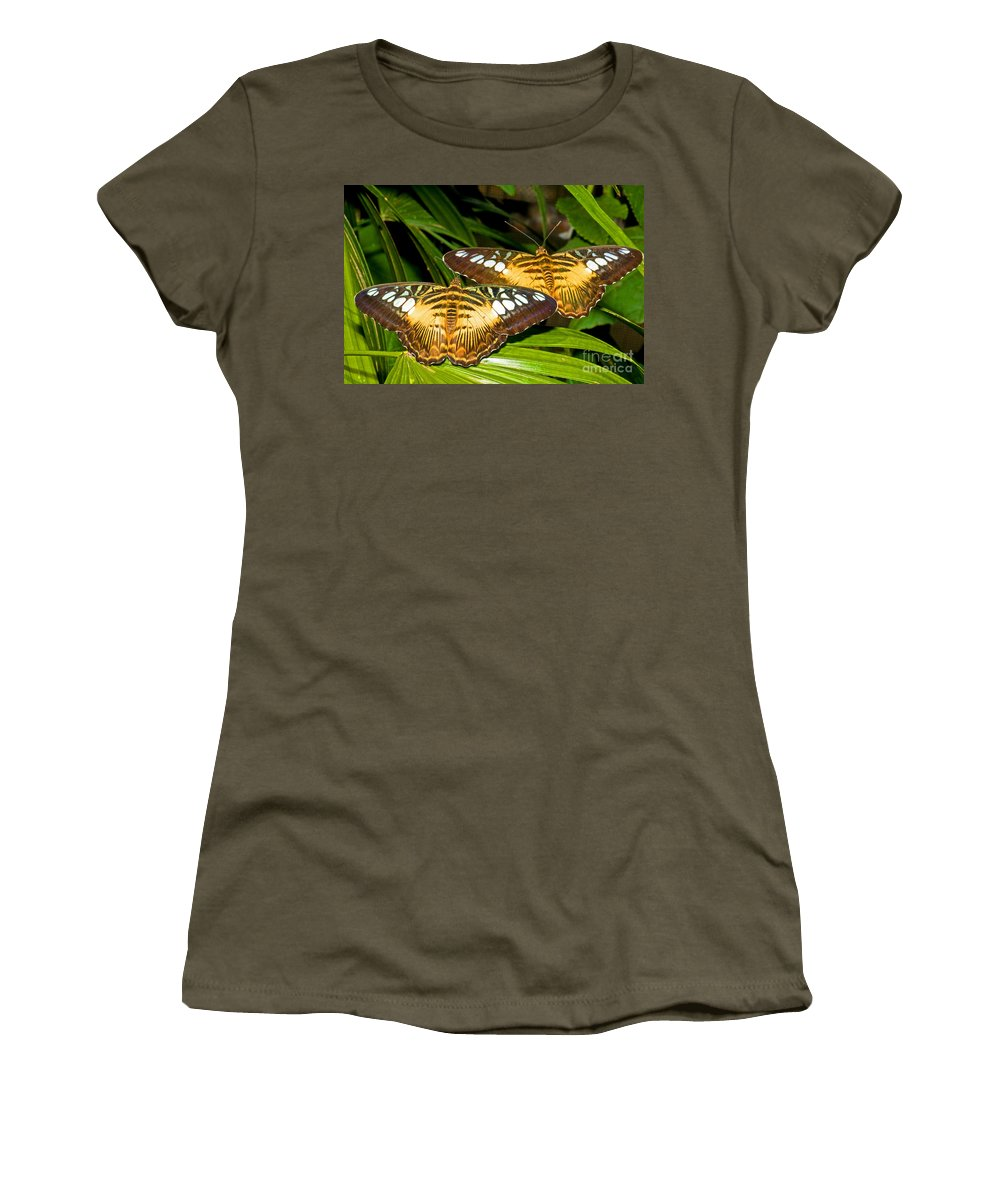 Nature Women's T-Shirt featuring the photograph Clipper Butterflies by Millard H. Sharp