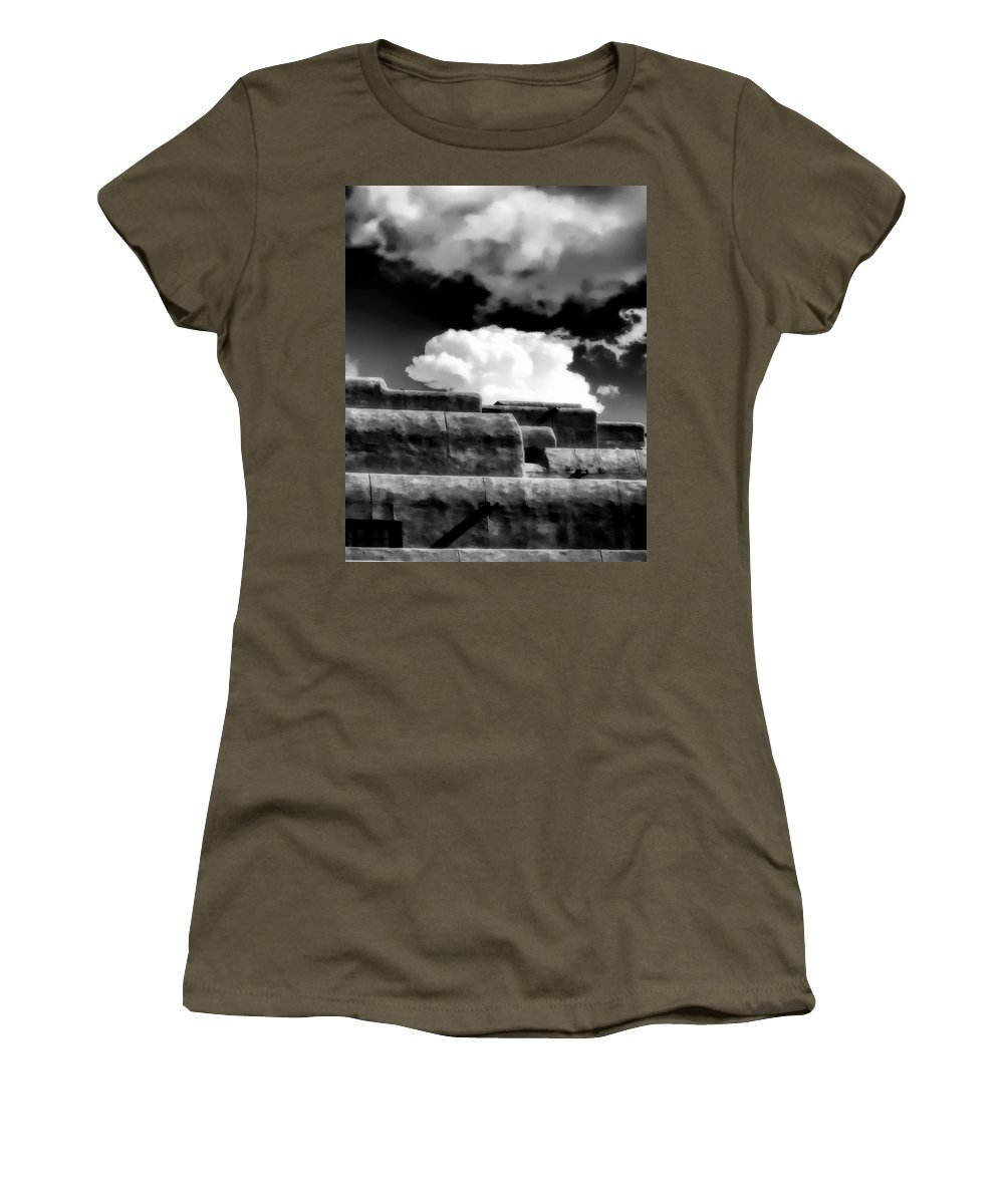 Cloud Women's T-Shirt featuring the photograph Clouds Over Santa Fe by Terry Fiala