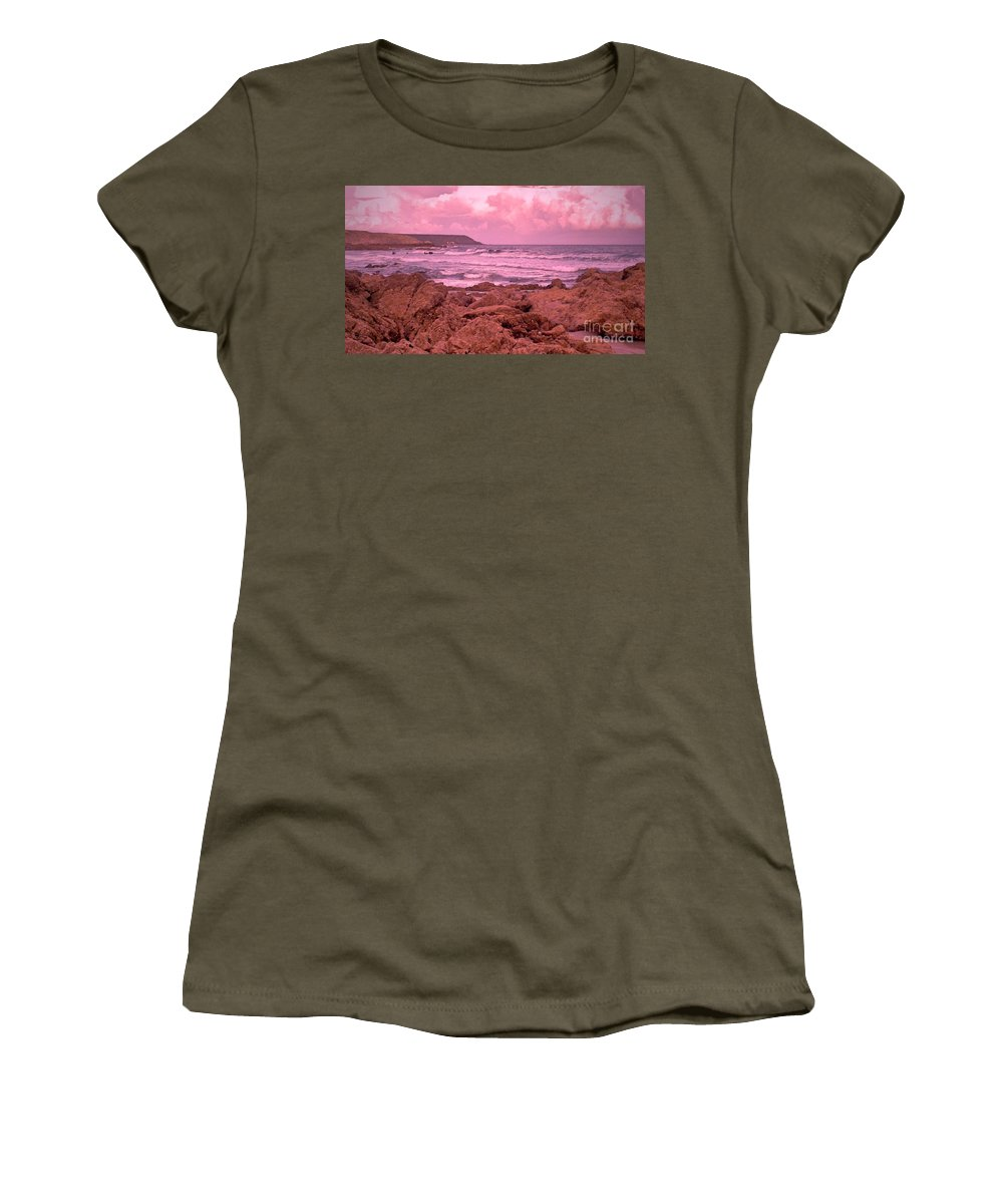 Clouds Women's T-Shirt featuring the photograph Cloudy Sea by Lisa Byrne