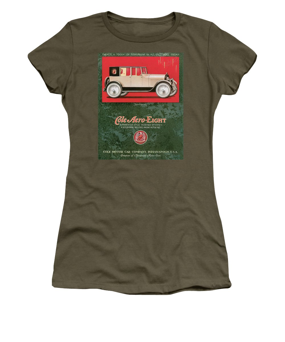1920 Women's T-Shirt featuring the drawing Cole Aero Eight Vintage Poster by World Art Prints And Designs