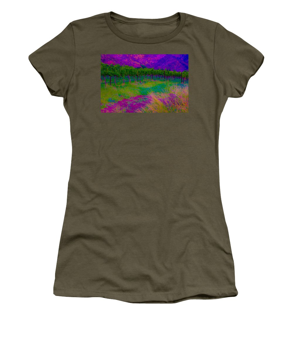 Bright Women's T-Shirt (Athletic Fit) featuring the photograph Colibri Acid 3 by Kent Nancollas