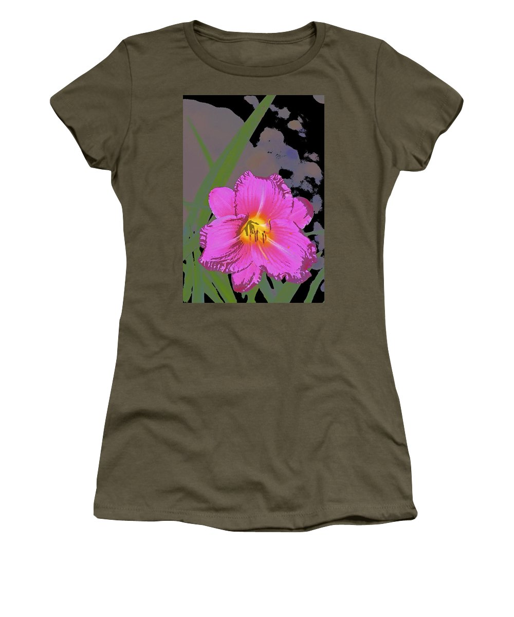 Floral Women's T-Shirt featuring the photograph Color 139 by Pamela Cooper