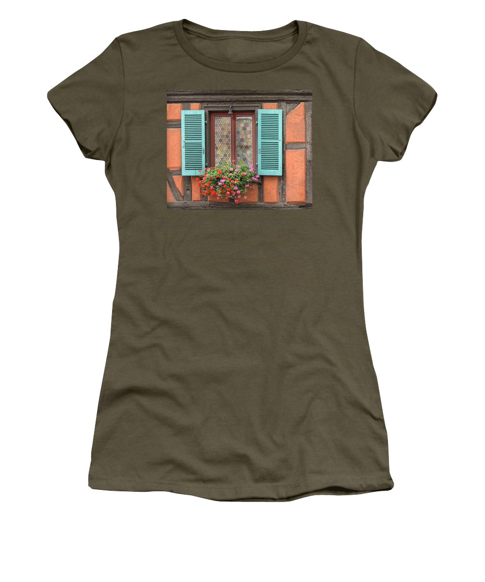 Window Women's T-Shirt featuring the photograph Color Abounds by Dave Mills