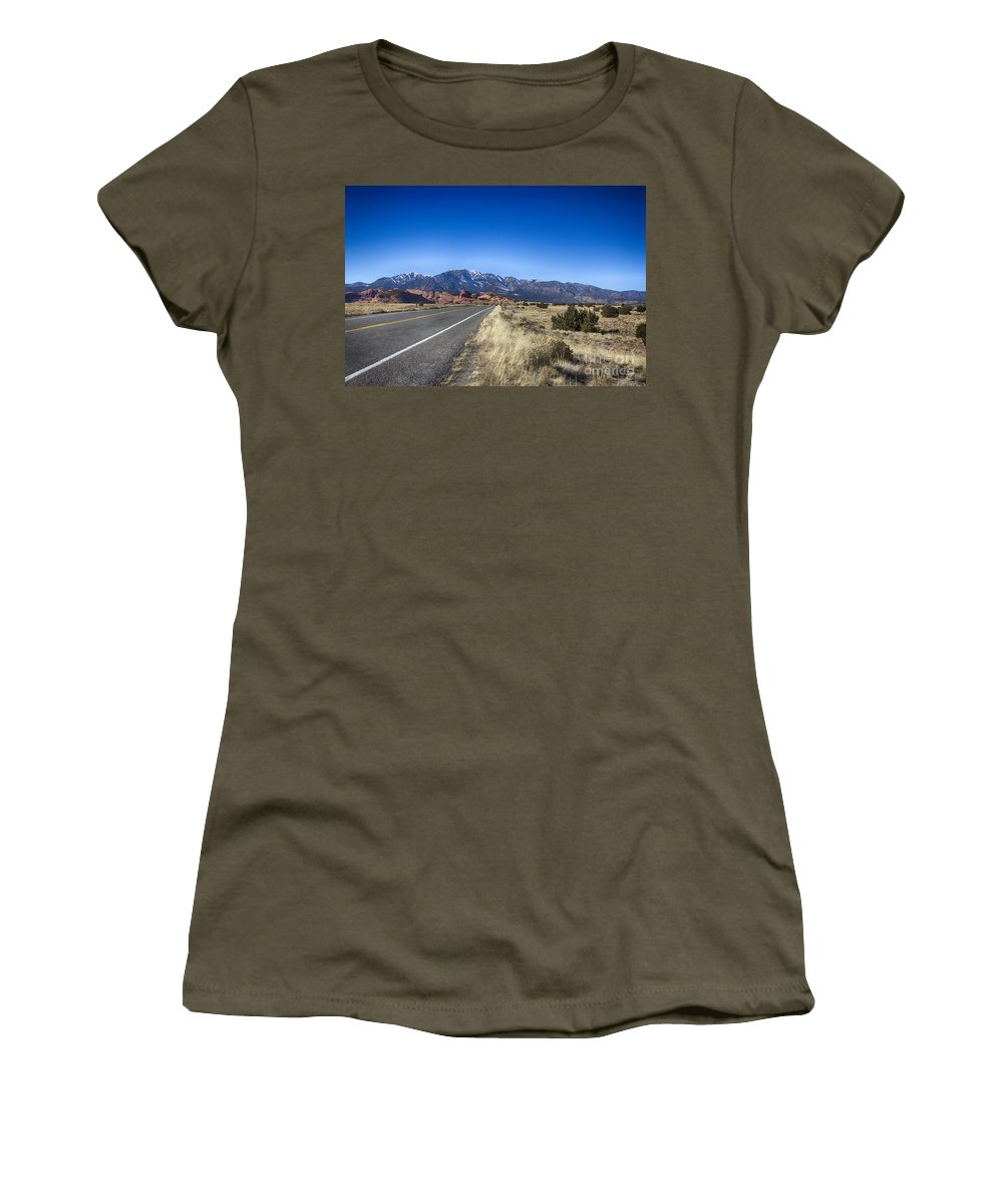 Flagstaff Women's T-Shirt featuring the photograph Color My Road V2 by Douglas Barnard