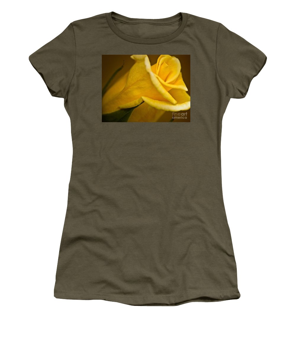 Yellow Women's T-Shirt featuring the photograph Color Of Friendship by Andrea Goodrich