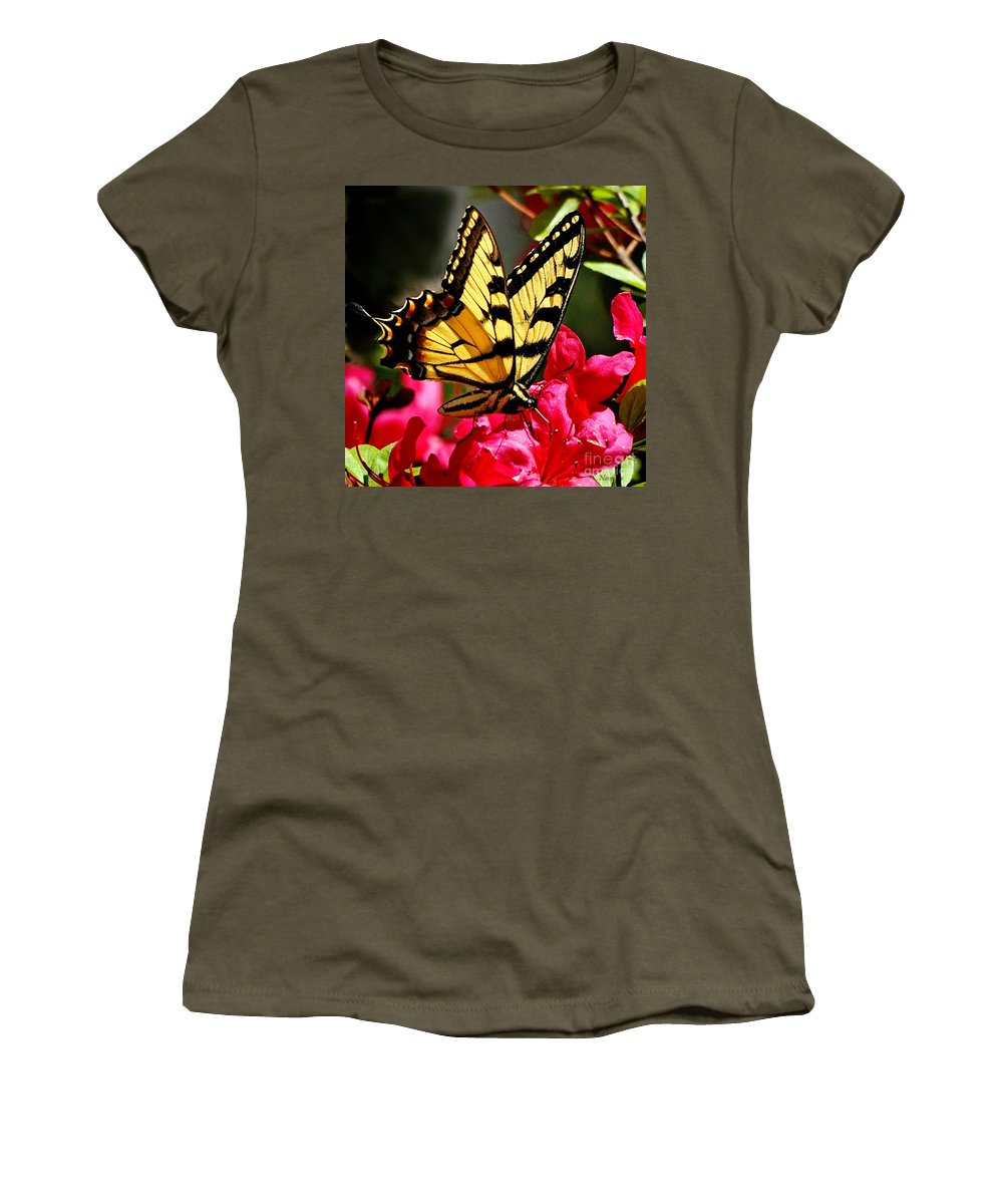 Nature Women's T-Shirt featuring the photograph Colorful Flying Garden by Nava Thompson