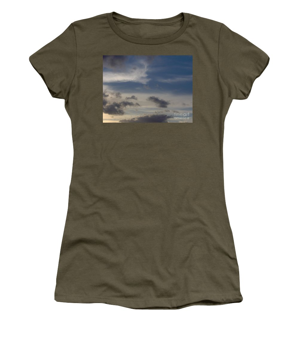 Clouds Women's T-Shirt featuring the photograph Colorful Sky by D Hackett