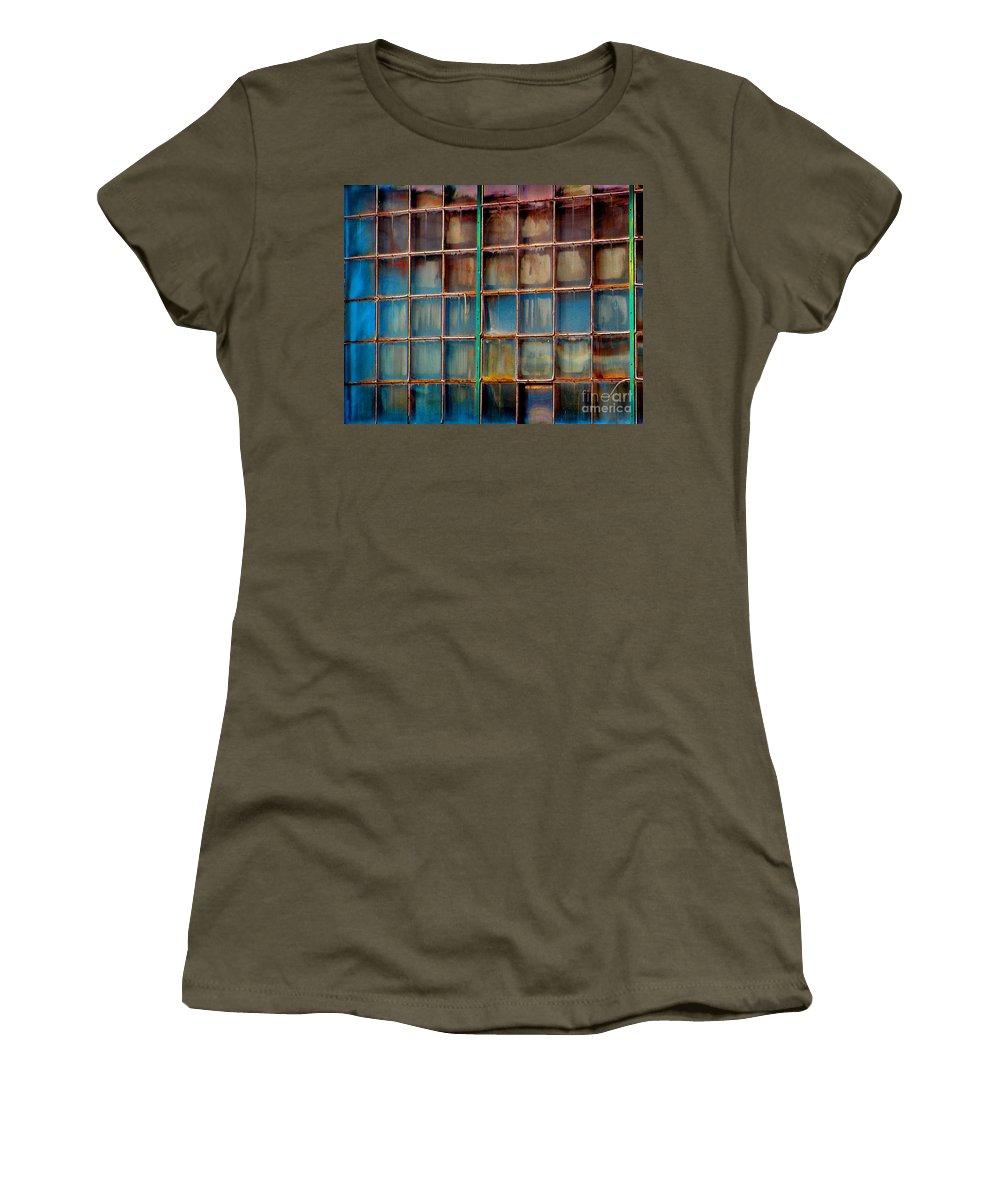 Building Women's T-Shirt featuring the photograph Colorful Windows by Karen Adams