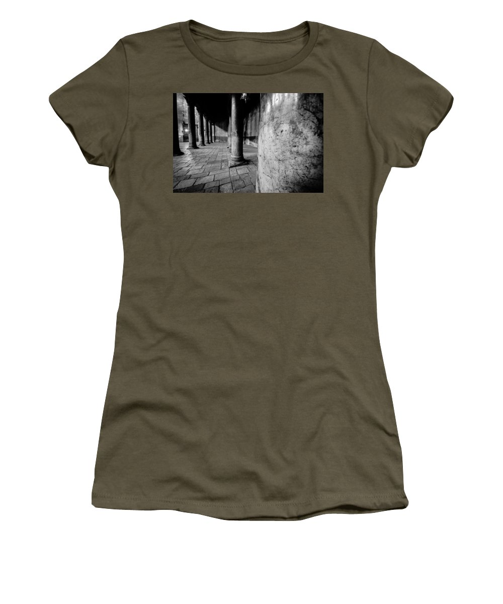Israel Women's T-Shirt (Athletic Fit) featuring the photograph Columns At The Church Of Nativity by David Morefield