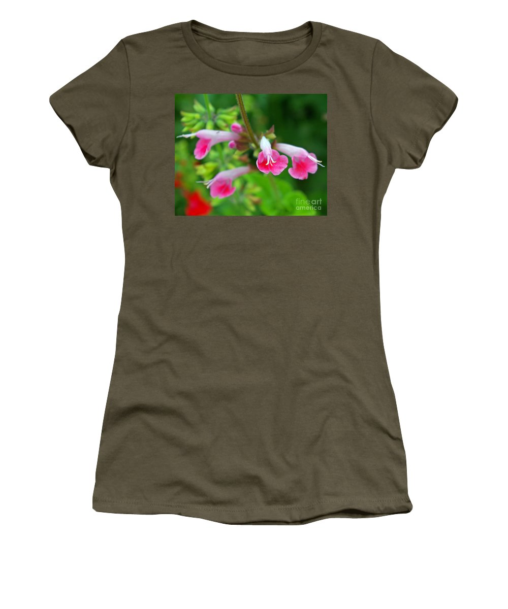 Skullcap Women's T-Shirt (Athletic Fit) featuring the photograph Common Large Skullcap by Nancy L Marshall