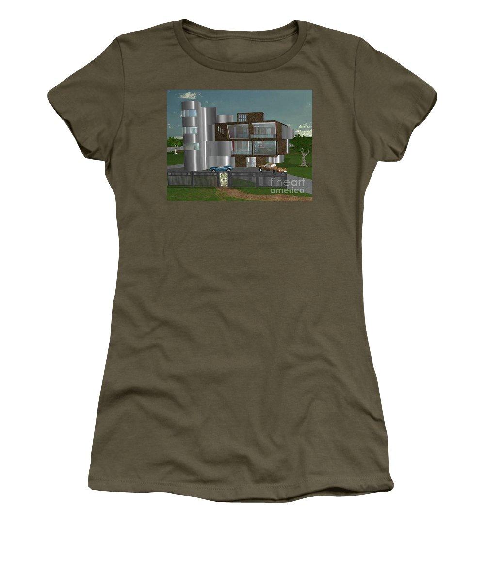 Concept Home Women's T-Shirt featuring the digital art Concept Home by Peter Piatt