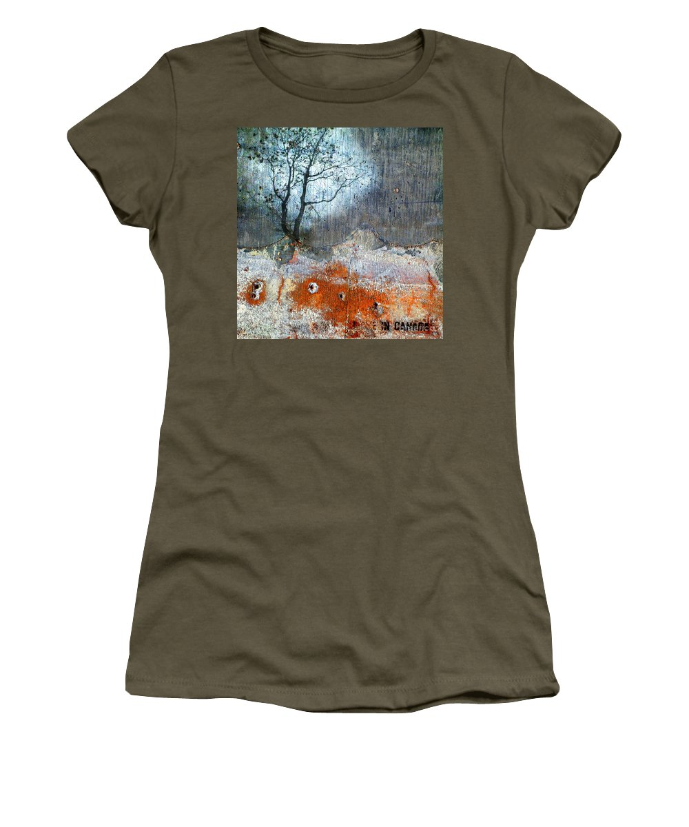 Mixes Media Women's T-Shirt featuring the photograph Concrete Gardens by Tara Turner
