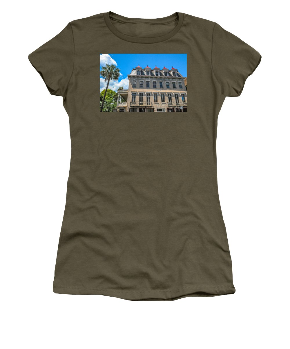 Confederate Home Women's T-Shirt featuring the photograph Charleston Confederate Home by Dale Powell