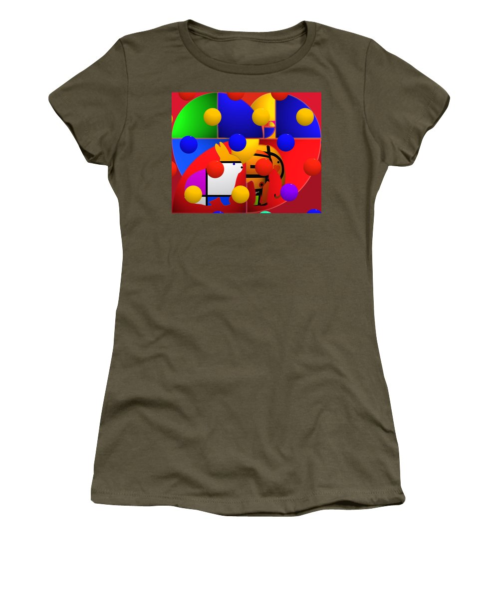 Colors Women's T-Shirt featuring the painting Contemporary Art by Charles Stuart