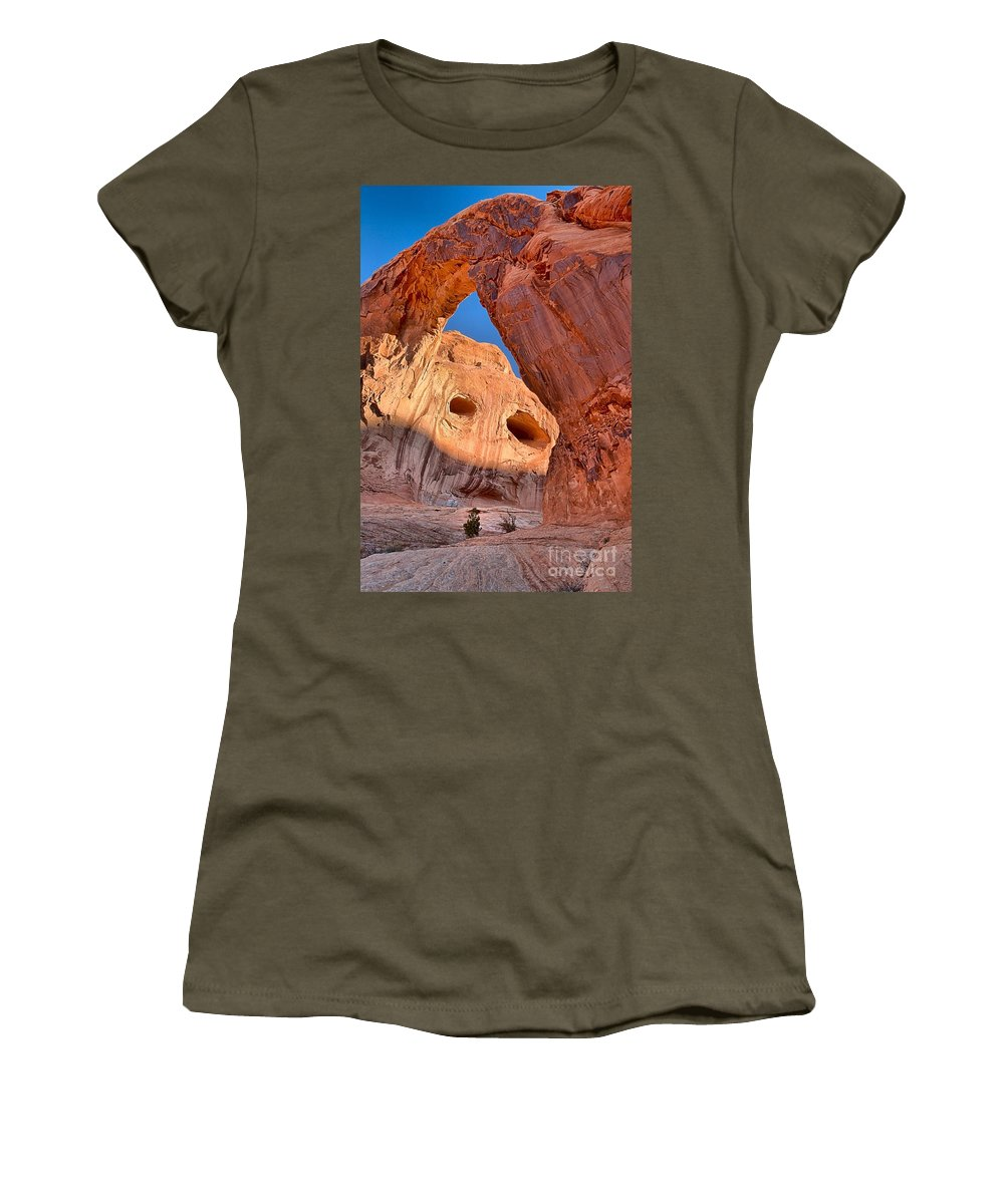 Corona Arch Women's T-Shirt featuring the photograph Corona Face Portrait by Adam Jewell