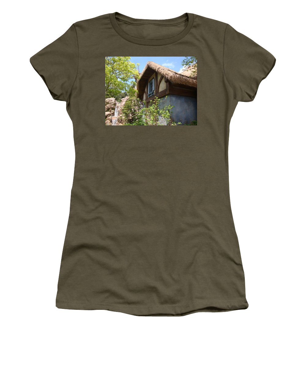 Cottage Women's T-Shirt featuring the photograph Country Cottage by Kim Chernecky
